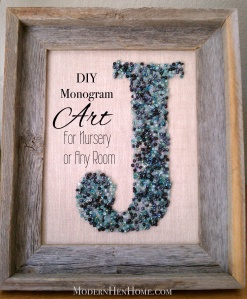 DIY Monogram Framed Art