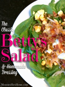 The Classic Betty's Salad & Homemade Dressing