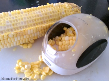 This handy-dandy gadget makes shaving corn easy and safer!