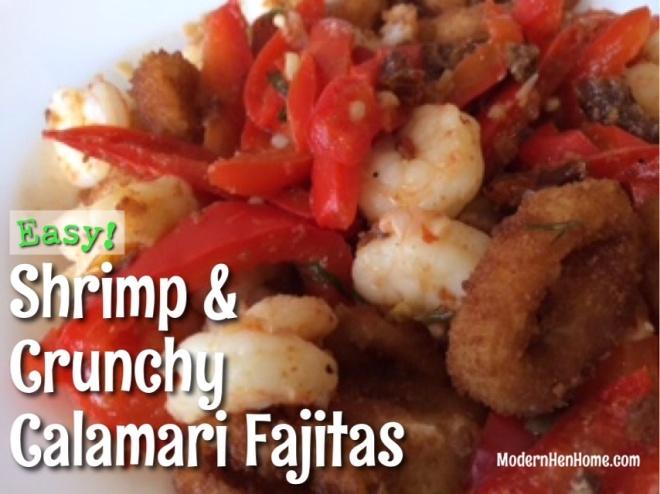 Shrimp & Crunchy Calamari Fajitas With Tzatziki Sauce