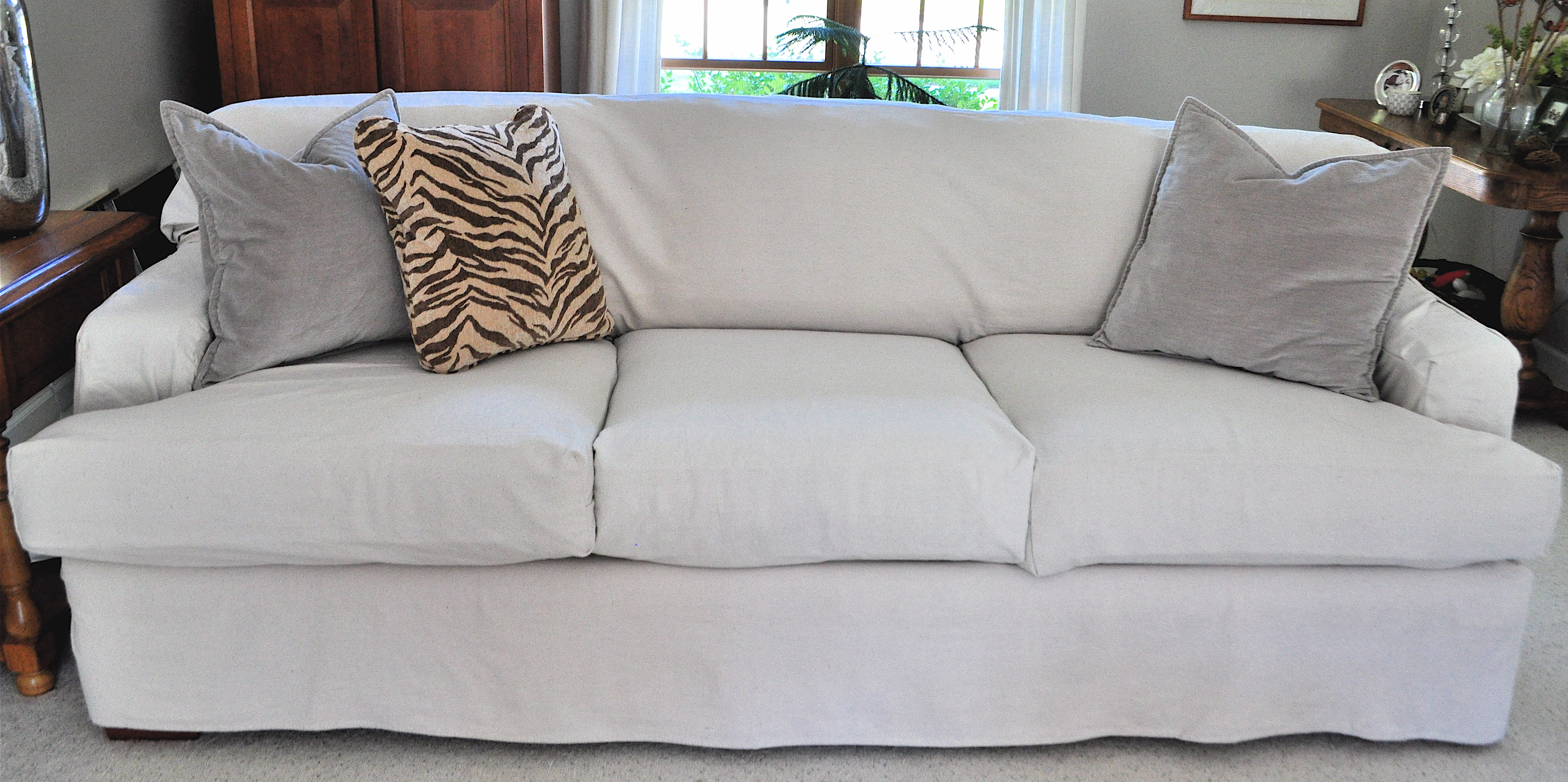 Sofa Slipcovers Made From Drop Cloths Modern Hen home